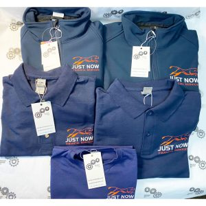 Soft Shell jackets, polos and t shirts for Just Now